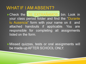 what if I am absent