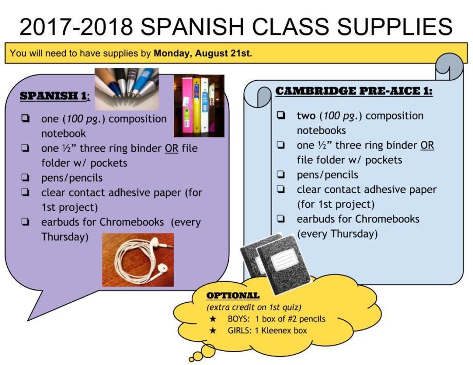 2017-2018 supplies