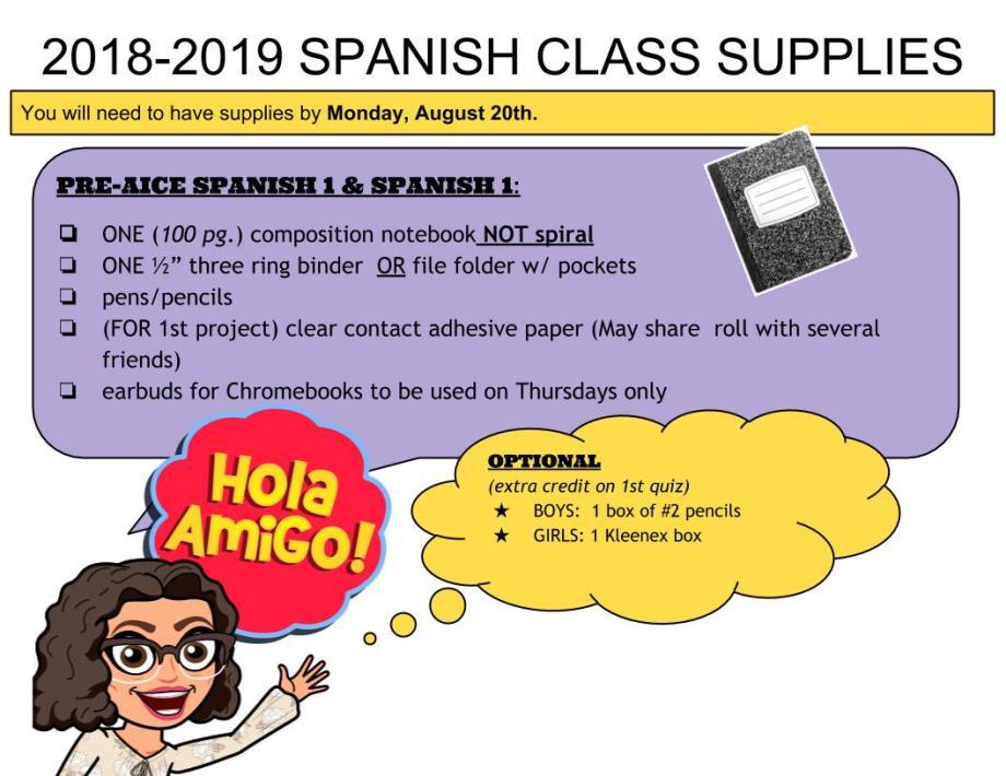 2018-2019 supplies
